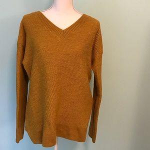 Mustard Yellow XL Ruff Hewn V Neck Sweater